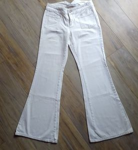 Express White Flare Jeans